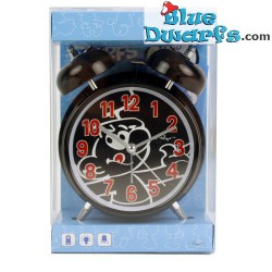 Black smurf mini clock with alarm (keyring)